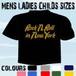 ROCK N ROLL IN NEW YORK USA FUNKY MUSIC T-SHIRT